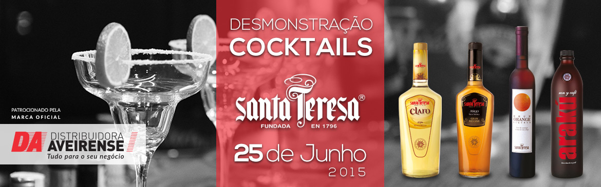 "Demonstração de Cocktails Rum ""Santa Teresa"""